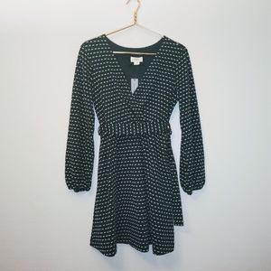 NWT Maeve by Anthropologie green holiday dress